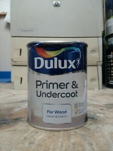 Dulux Primer and Undercoat Paint For Wood - 750mL