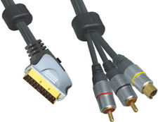 3 M SCART Enchufe a SVHS/S-Vhs S-video entrada y dos x RCA/Phono Audio Cable de plomo