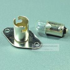 FASSUNG  mit Glühlampe für 9mm metall SCHRAUB SOCKEL BA 9s   DIN 49710