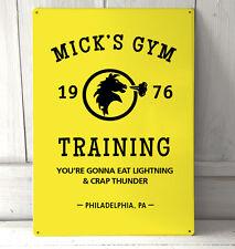 Mick's Gym Jaune Rocky Balboa citation de film Inspiré signe A4 plaque métal
