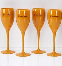 Veuve Clicquot VCP Yellow Label Acrylic Flute Glasses Brand New Set x 4 !