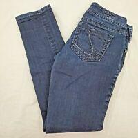 Silver Suki Skinny 5 Pocket Jeans Stretch Mid Rise Dark Wash Blue Womens 27 x 31