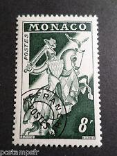 MONACO 1954-59, timbre PREOBLITERE 12, CHEVAL, neuf**, VF MNH STAMP, HORSE