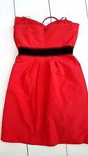 BCBGMax Azria Dress Size 8 Red Prom Bow Mini Strapless Cocktail New NWT
