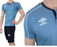 UMBRO Herren Schlafanzug Pyjama Baumwolle kurz Shorty T-Shirt 74S Blue/Navy
