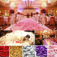 2000/5000PCS Artificial Flowers Fake Silk Rose Petals Wedding Party Decoration