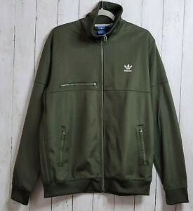 Adidas XL Fallen Future Jacket BQ4468 Full Zip Military Khaki Green Mock Neck
