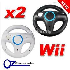 2 x Wii Steering Wheels Nintendo WiiU for use with driving games Free Shipping