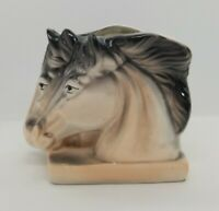 Vintage Ceramic Horse Head Pony Planter Nancy Pew Giftwares Co T4125