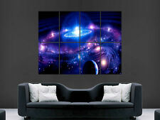 GALAXIES EARTH STARS SPACE POSTER  ART WALL LARGE IMAGE GIANT HUGE