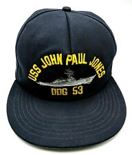 USS JOHN PAUL JONES / DDG 53 blue adjustable cap / hat - Made in USA!