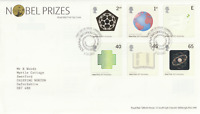 2 OCTOBER 2001 NOBEL PRIZES ROYAL MAIL FIRST DAY COVER CAMBRIDGE SHS f