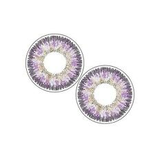 2pcs Contact Lenses Fresh Color Soft Big Eye Protection Cosmetic Lens Purple EH