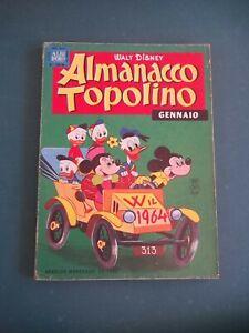 ALMANACCO TOPOLINO 1964 NUM 1 OTTIMO + FIGURINE