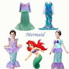 Girl's Kid Princess Fancy Costume Outfit Ariel Little Mermaid Fancy Dresses Gift