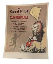 "Reddy Kilowatt ""A Good Pilot"" 1960 Vintage Print"