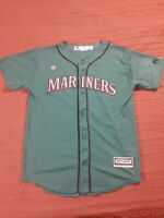 Seattle Mariners Green Jersey MLB Youth Majestic Robinson Cano #22 Size Large