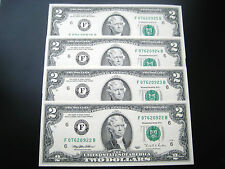 (4) $2 1995 ATLANTA (CONSECUTIVE#)FEDERAL RESERVE NOTE CHOICE UNC NOTE