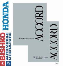 1994 Honda Accord Shop Service Repair Manual CD Engine Drivetrain Electrical OEM