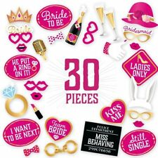 Happium - Bride To Be Party Photo Booth Props Kit - 30pcs