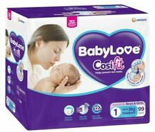 BabyLove Cosifit Nappies for Newborn Babies (Pack of 99)