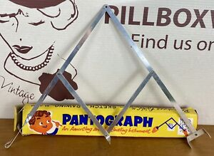 Vintage Toy Pantograph - Drawing Instrument - Original Box And Toy