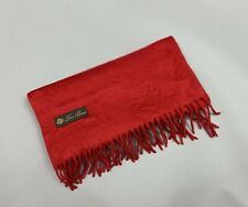 MSRP 850$ Loro Piana 100% Cashmere Scarf Solid Wrap Shawl Color Red