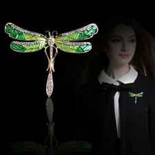 Women's Vintage Noble Crystal Dragonfly Brooch Pin Charming Jewelry Gift Fashion