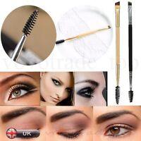 New Professional Black Flat Angled Eye Brow/Eyeliner/Eyeshadow Makeup Brush Comb