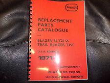 TRIUMPH  T25T T25SS PARTS BOOK MANUAL 1971 - TP04 99-0949 USA & UK MODELS