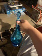 Vintage Blue Glass Decanter 5L