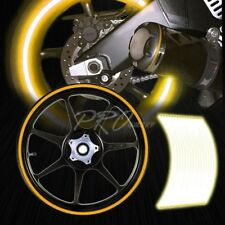 "16/17/18/19"" Reflective Rims Tape/Wheel Rim Decal Stripes Sticker Glowing Gold"