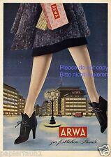 Arwa Strumpfhosen XL Reklame von 1953 Strümpfe Nylons High Heels Beine Kaufhaus