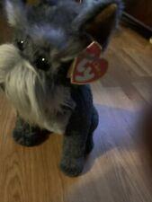Vintage-Retired-13� 2000 Ty Classic Schnauzer Max The Dog Gray Plush