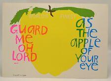 Sister Mary Corita Kent Poster Song With an Apple 10x14 VTG 1968 Print EUC