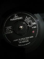 """The Beatles –I Want To Hold Your Hand Vinyl 7""""  UK 1st Press Single R 5084 1963"""