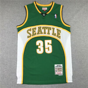 Kevin Durant #35 Seattle Supersonics Throwback Swingman Jersey Green Size S-XXL