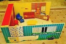 MATTEL 1962 ORIGINAL #816 BARBIE DREAM HOUSE w FURNITURE AND ACCSESSORIES