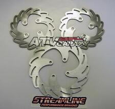 Streamline Front & Rear Brake Rotors Yamaha Banshee 350 1987-2011+