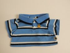 Build A Bear ~ Blue Stripe Collared Polo Shirt