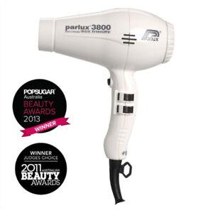 NEW, Parlux 3800 Eco Friendly Ceramic & Ionic Dryer 2100W - White