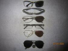 Lot of 6 Ray-Ban Metal Eyeglasses Men Women Wide Big Sexy Aviators Pilot Vintage