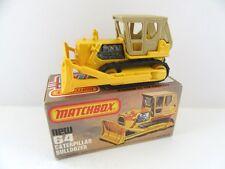 Matchbox Superfast 64d Caterpillar D9 Bulldozer - Yellow Rollers - Mint/Boxed