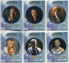 Arrow Season 3 Complete Character Bio Chase Card Set C1-6