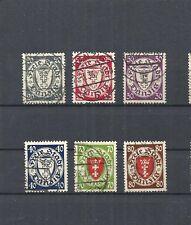 Danzica, Gdansk 1935 Michel numeri: 245 - 250 o, timbrato o, valore di Catalogo € 30