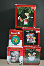 VINTAGE LOT OF (5) CAMPBELL'S KIDS CHRISTMAS ORNAMENTS COLLECTIBLES