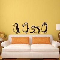 Cute Animal Wall Stickers Little Penguin Vinyl Mural Art Decals Home Room Decor
