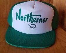 Vintage Northerner Polar Bear Trucker Hat Cap Flatbill Snapback Green Rare HTF