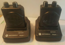 (X2) Motorola Minitor V Low Band (47-48Mhz) Pagers w/ Charging Bases