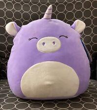 "NWT Squishmallow 12"" Purple Unicorn Ponderosa Kellytoy Plush Ultrasoft NEW"